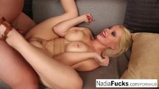 Nerdy babe fucks blonde shy her nadia and neighbor babe piercing