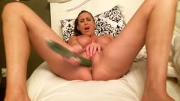 aleah jazmin fucks a cucumber