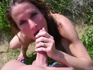 Nude Beach Blow Job