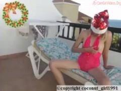 Sunbathing nude on hotel balcony coconut_girl1991_141216 chaturbate REC