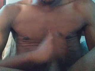 Cumming on my chest and stomach