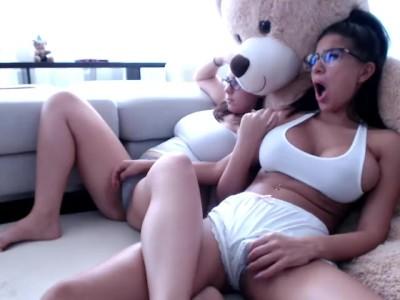 Sweet teen get naked on webcam