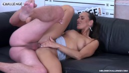 Super hot pornstar Mea Melone ride agents cock with her ass & get creampie