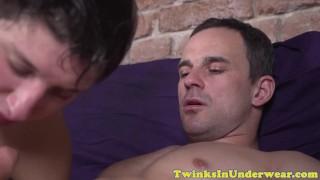 Masseur underwear twink muscular by massaged massage underwear