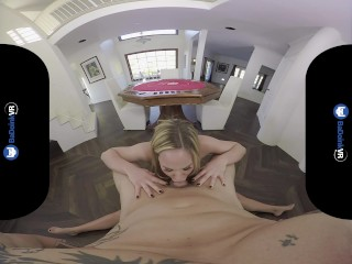 BaDoink VR Great Poker Risk With Olivia Austin VR Porn