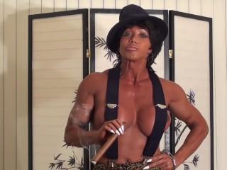 nikita - Trash Talking Cigar Mama Flexes Huge Round Boobs