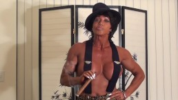 Trash Talking Cigar Mama Flexes Huge Round Boobs