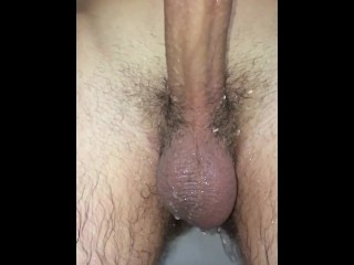 Young shower slo-mo