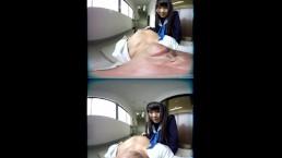 ZENRA JAV VR Japanese schoolgirl Arisu Mizushima blowjob