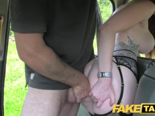 Fake Taxi Olive skin red-head in lingerie
