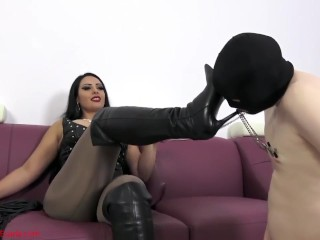 A boot bitch belongs under My heels