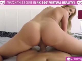 VR Bangers-Sexy blonde Angel Piaff Play with her Pussy and Cum hard