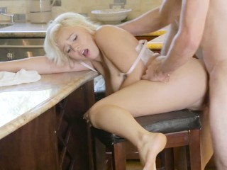 Twistys Hard - Hot blonde Kylie Page has sex in the kitchen