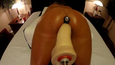 AMATEUR CLOSE UP STRYKER DILDO FUCK DOGGY STYLE WITH BUTT PLUG - ORGASMS