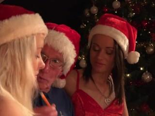 Santa Fucks Teen Helpers Spanks their ass and fucks pussy like crazy