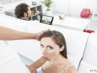 VIRTUAL TABOO - Young Sister Aruna Enjoys Huge Cock In Front of Dad