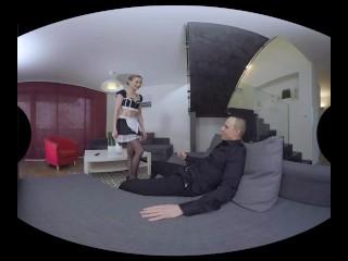 Luca Bella strikes again as a horny french maid