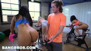 BANGBROS - Curvy Latina Rose Monroe Fucked in Spin Class by Brick Danger Play tits