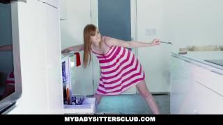 MyBabySittersClub - Babysitter Stuck In Sink Fucked By Boss Tits sister