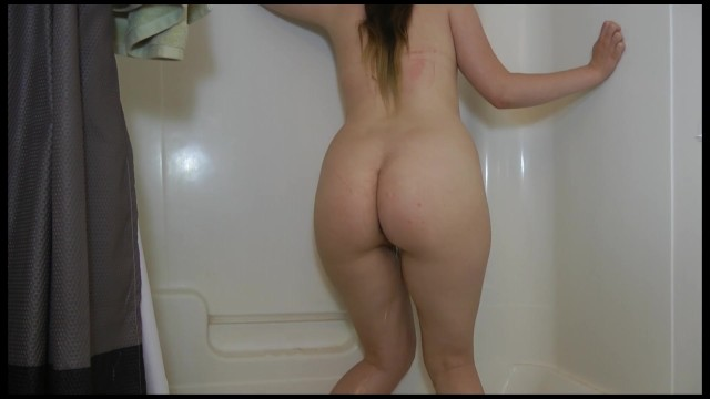 Naked Pee Desperation Standing in the Tub 8
