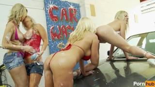 lesbian car wash - Scene 1