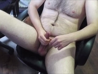 JeromeKox - Home Alone Jerking Off With A Nice Cumshot View From Above!