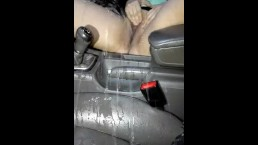 Norwegian MILF pissing in car