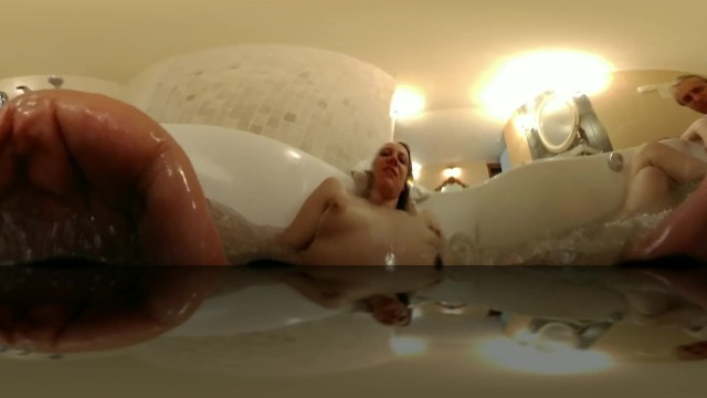 Naked hottubing - Girl masturbating with hot tube jets vr 360 intimate experience