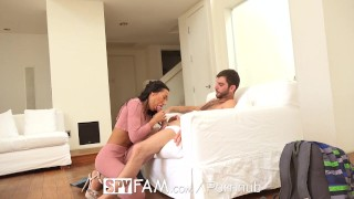 Huge amia discovers step cock miley has sister spyfam step brother big busty