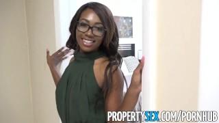 PropertySex Smoking hot black real estate agent surprises client