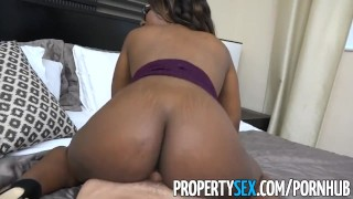 Estate agent surprises smoking real client black propertysex hot cock sex
