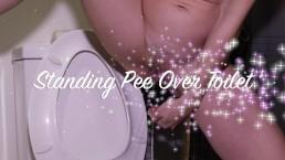 Standing Pee Over Toilet