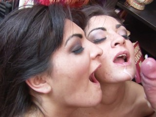 Montage Of Hot Girls Getting Massive Facials