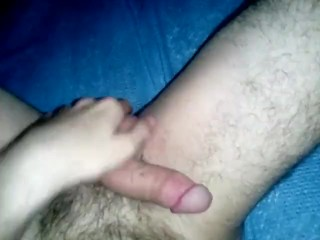 Hairy cub stroking again!
