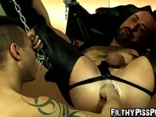 Miguel Fresno enjoys getting his ass pissed by Max Carioca