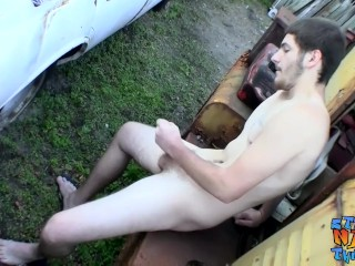Round ass busty brunette gives slippery wet blowjob like a freak