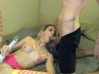 Blonde Teen Sucks A Big Dick