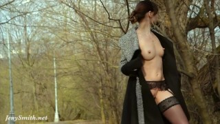 Flashing in smith spring stockings jeny by high outside