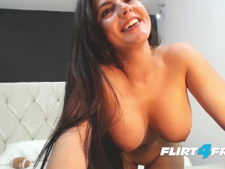 Big Titted Bombshell Sarah Harper Performs Striptease and Masturbates
