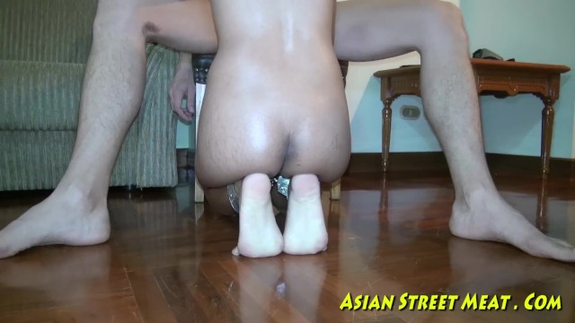 Anal intercourse history Asian woman dribbles semen after anal intercourse
