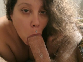 No Hands Blowjob With Tons Of Spit And Cum