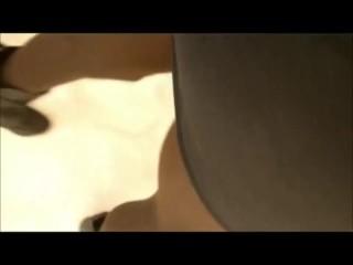 crossdresser black mini skirt