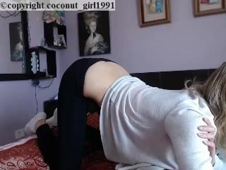 Lush remote vibrator yoga pants coconut_girl1991_020217 chaturbate REC