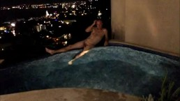 JSVnaked balcony pool - Quick Dick Flicks
