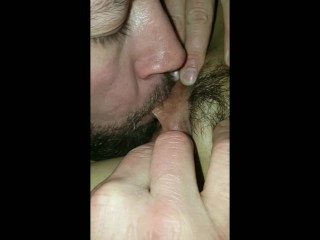 Daddy B's tongue game is strong.eating Sassy B's Pussy