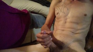 Squirting all over my hard DICk