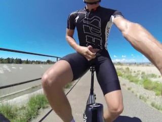 Pissing while cycling