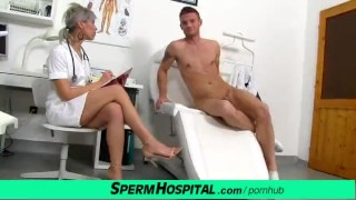 cfnm penis medical checkup with massive tits latino