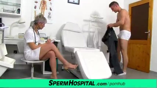 Sperm penis - Cfnm penis medical exam with sexy czech milf doctor beate