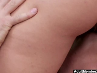Preview 4 of AdultMemberZone - Blonde's First Time in Front of a Camera